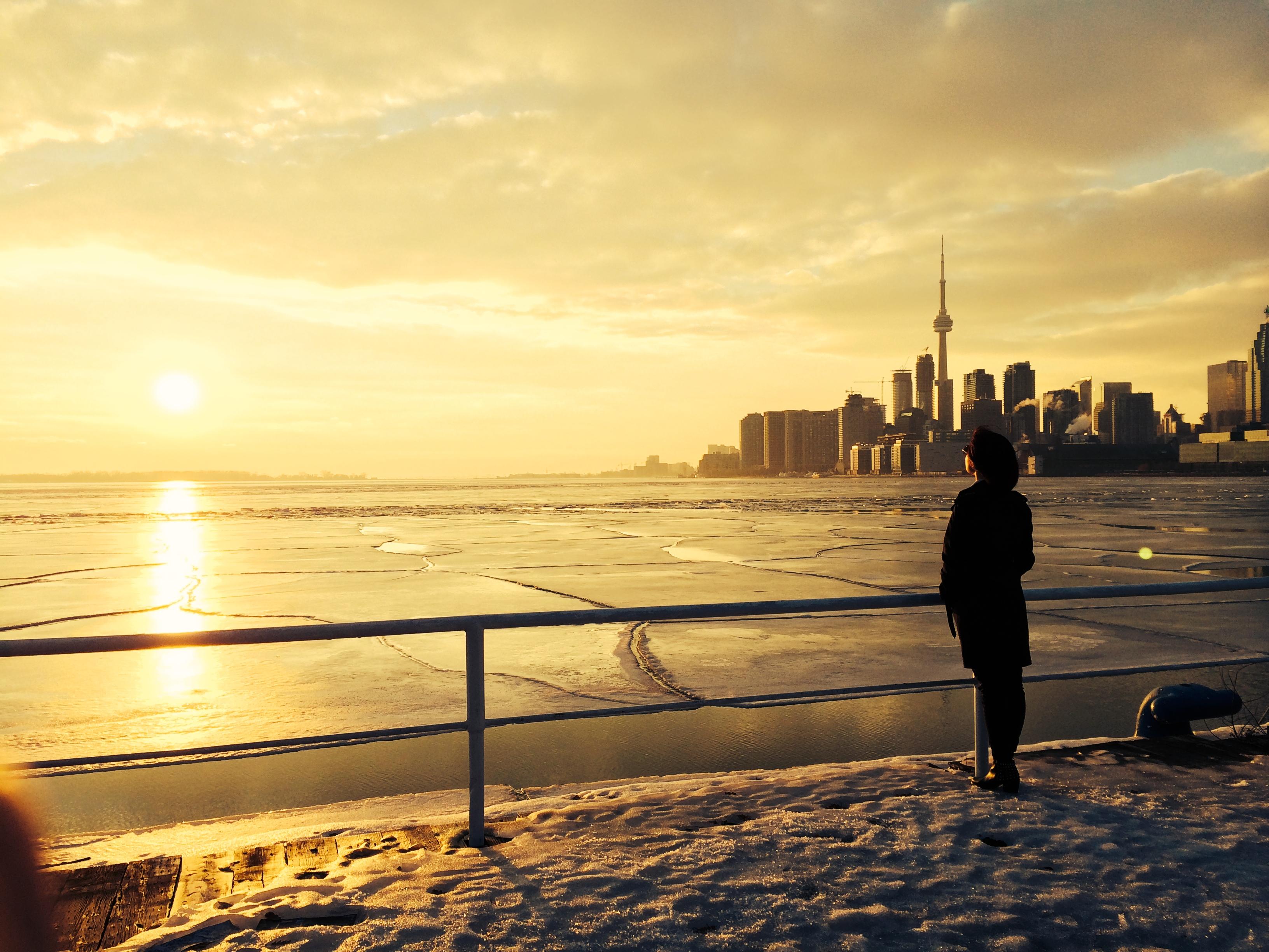 Вид на CN Tower Торонто